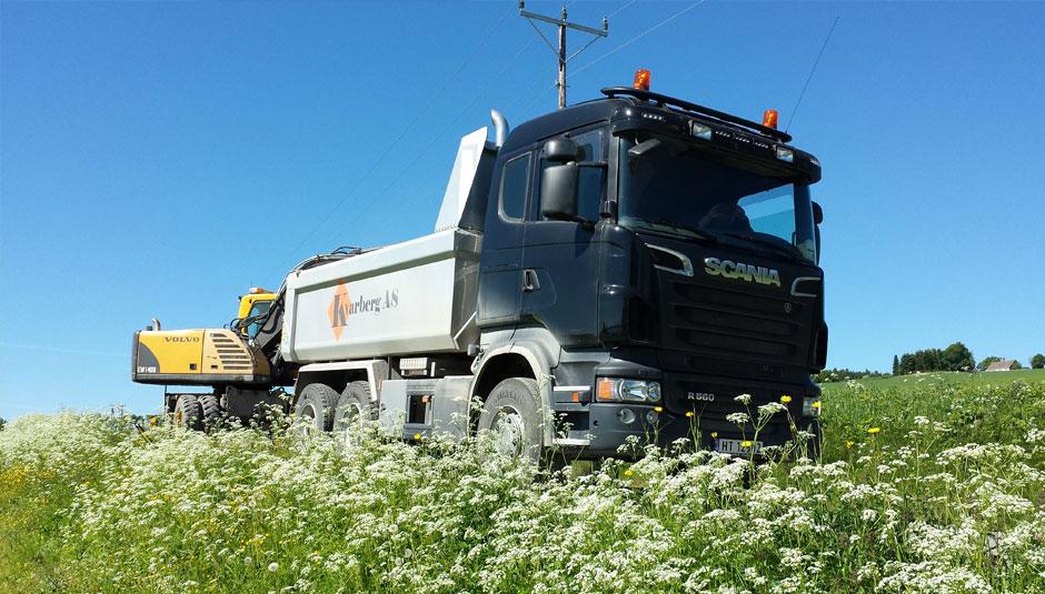 Lastebil fra Kvarberg AS